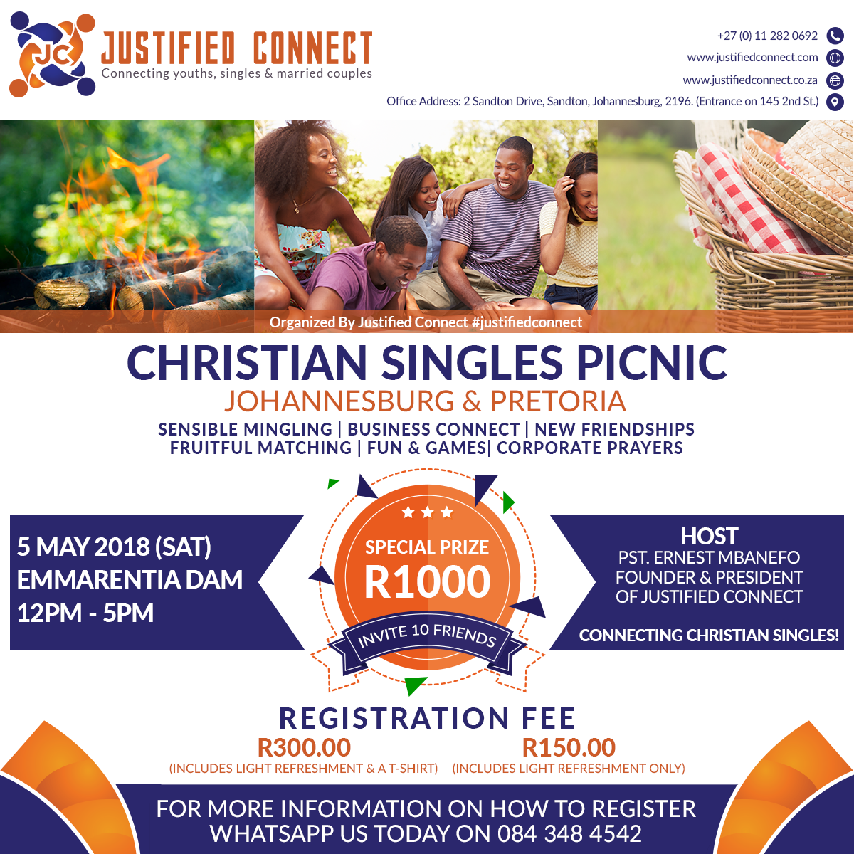 Justified Connect - Christian Singles Picnic - Emmarentia Dam 3